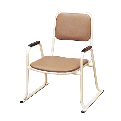 肘付スチール製パイプ椅子 座高30cm