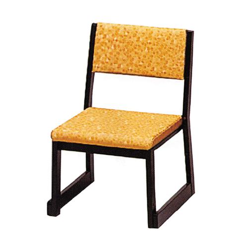 木製本堂用椅子 背もたれ付 座高35㎝ 5脚組