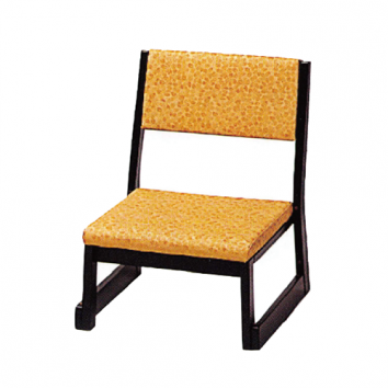 木製本堂用椅子 背もたれ付 座高26㎝ 5脚組