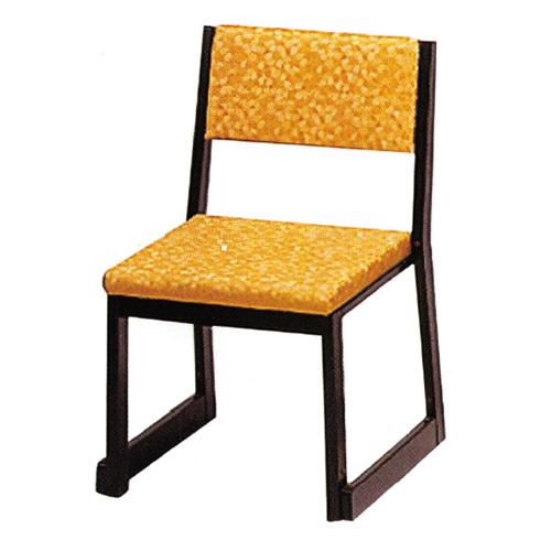 木製本堂用椅子 背もたれ付 座高42㎝ 5脚組